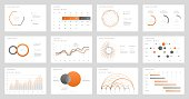 Big set of infographic tools. Use in presentation templates, mobile app and corporate report. Dashboard UI with big data visualization.