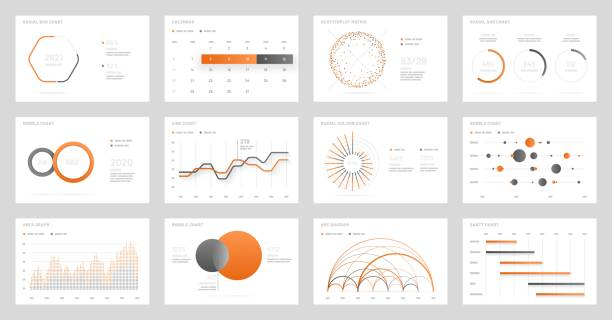 big set of infographics. dashboard ui with big data visualization. - диаграмма stock illustrations