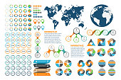 Big set of infographics elements.