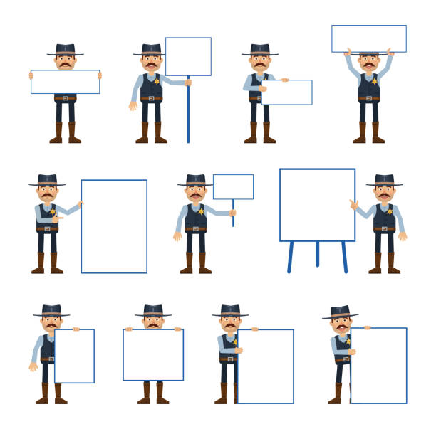 Set Policeman Characters Showing Various Actions Stock Vector (Royalty  Free) 1640510059