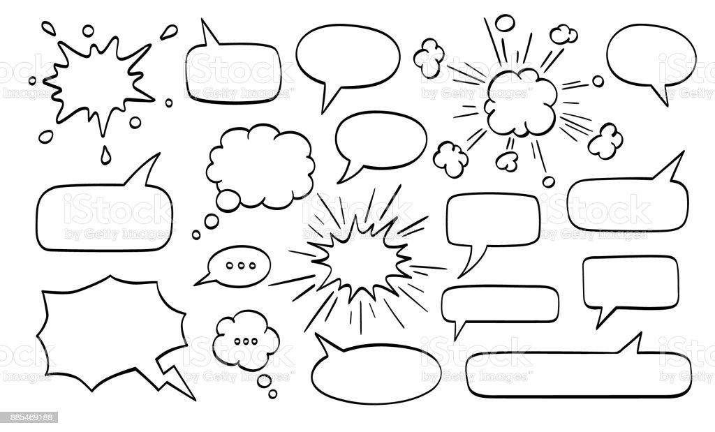 Gran juego de burbujas de discurso. ilustración de gran juego de burbujas de discurso y más vectores libres de derechos de bam libre de derechos
