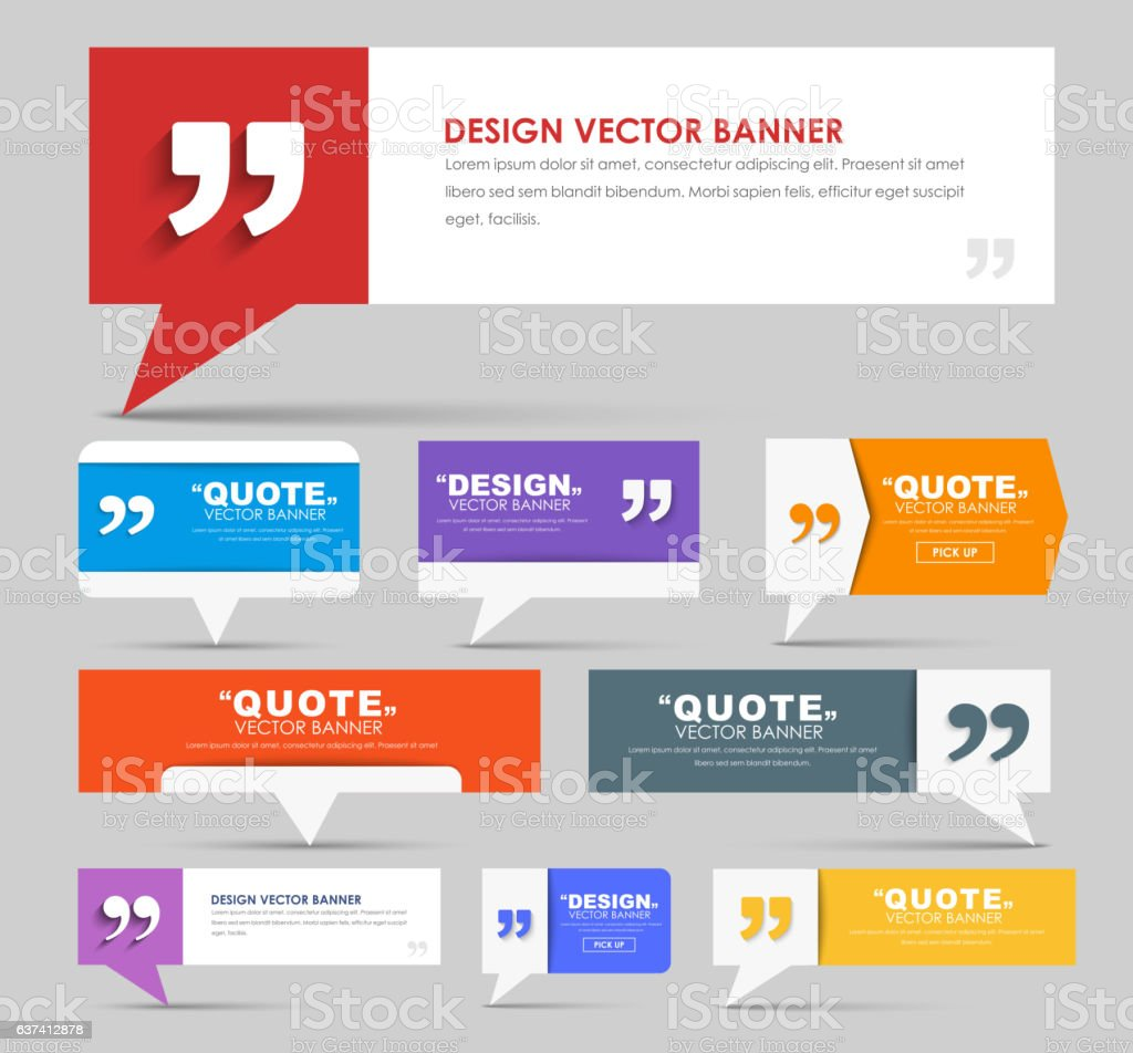 Big set of web banners  for a quote – Vektorgrafik