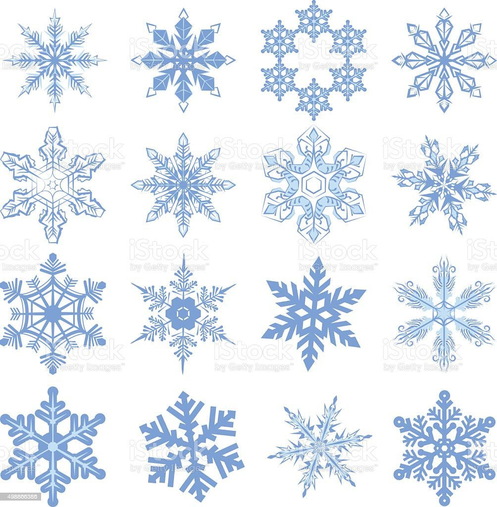 Ideal Big Set De Flocons De Neige Flocon De Neige – Cliparts vectoriels  VA59