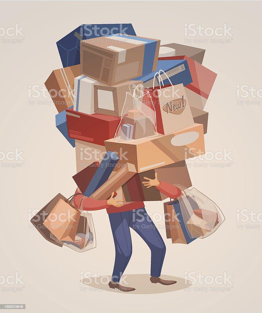Big shopping vector art illustration
