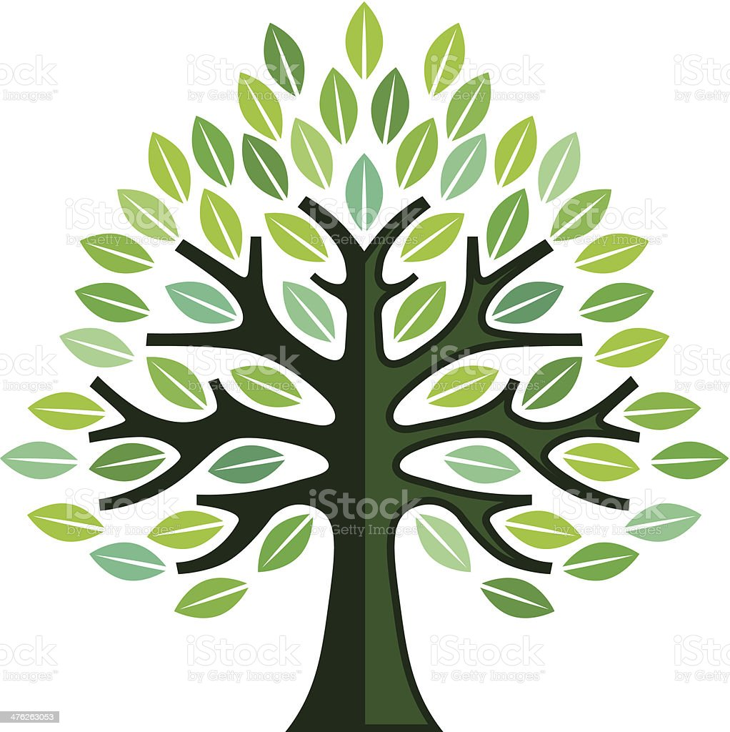 Big simple tree illustration royalty-free stock vector art