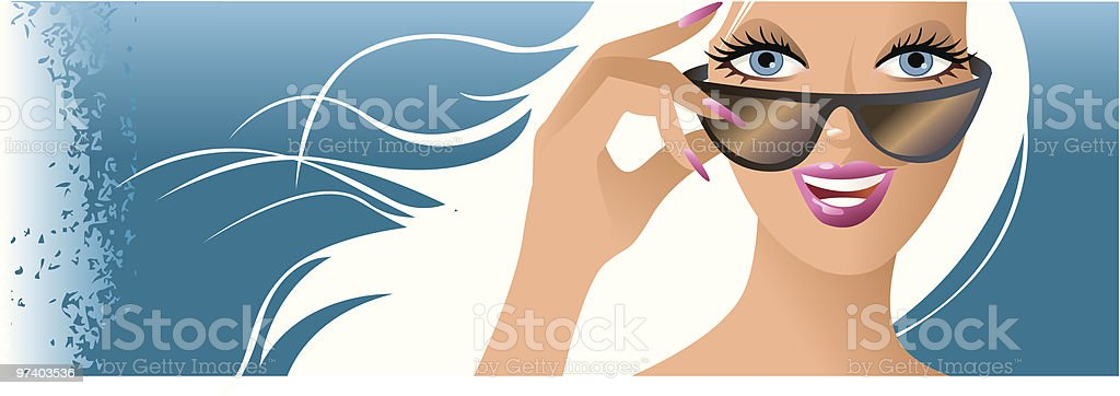 Big smile for the camera royalty-free stock vector art