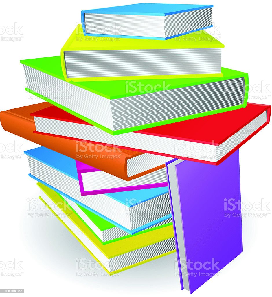 Big stack of books illustration royalty-free big stack of books illustration stock vector art & more images of blue