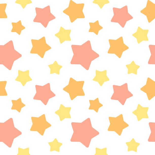 Big star random seamless pattern vector art illustration