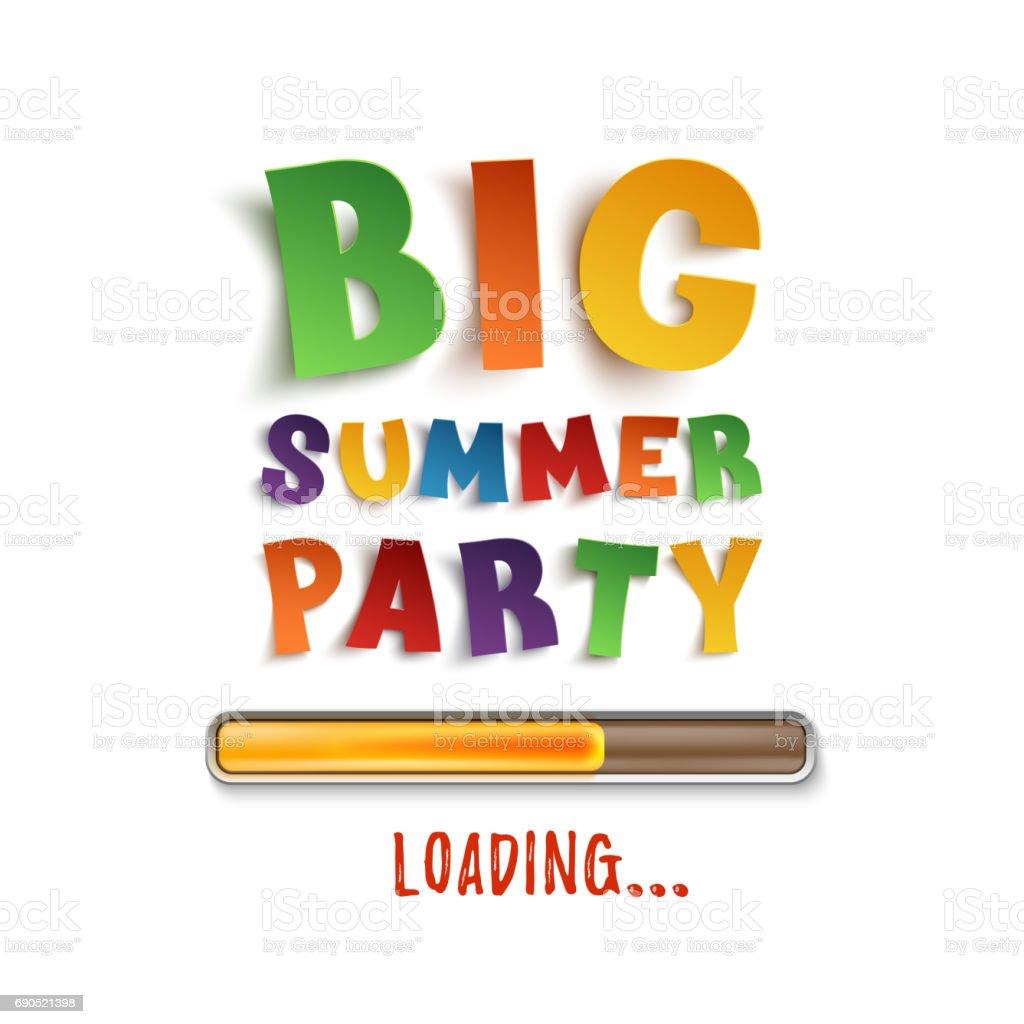 Große Sommerparty Laden Plakat Vorlage Stock Vektor Art und mehr ...