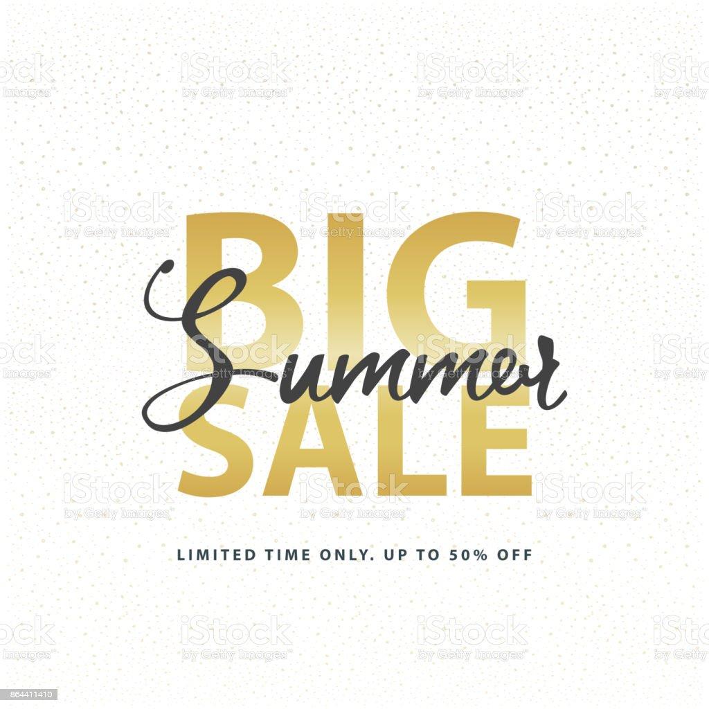 Big Summer Sale Gold Anmelden Weiß Golden Glitterhintergrund Web ...