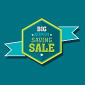 creative big super saving sale banner design vector