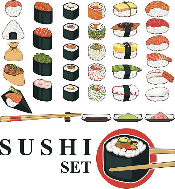 Sushi au Grand - Illustration vectorielle