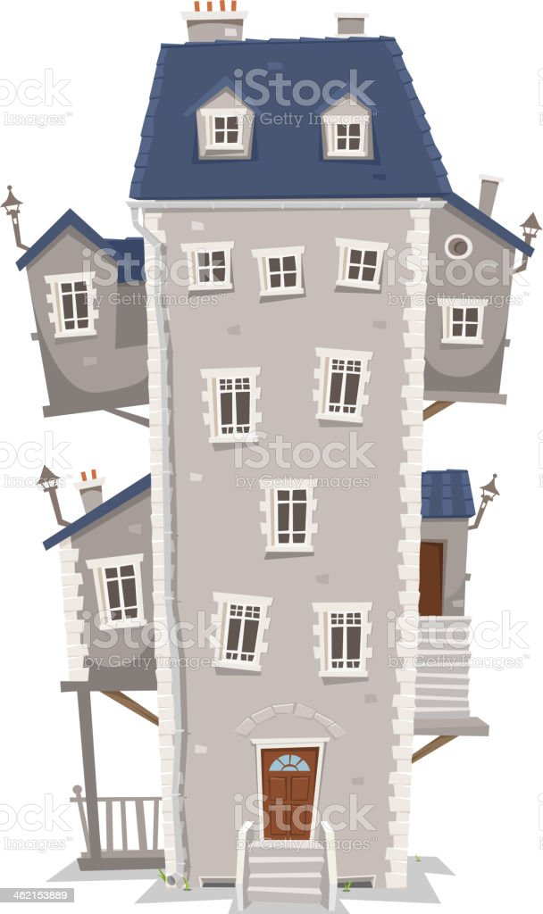 Big Tall House Building vector art illustration