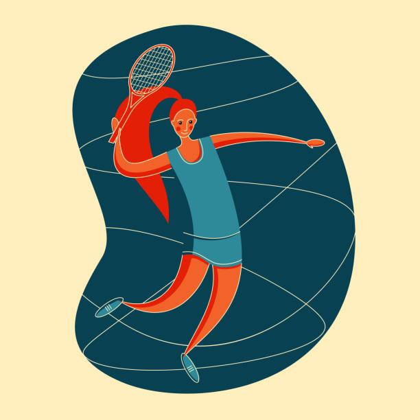 große tennisfrauen - wimbledon stock-grafiken, -clipart, -cartoons und -symbole