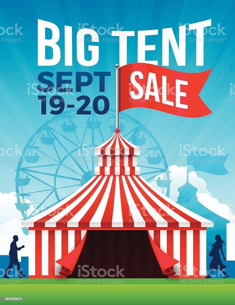 Big Tent Sale vector art illustration