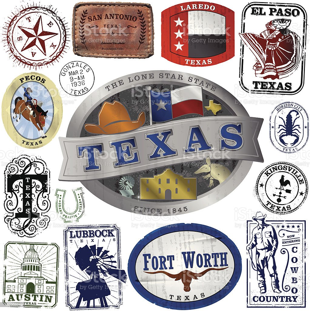 Big Texas Graphic Collection vector art illustration