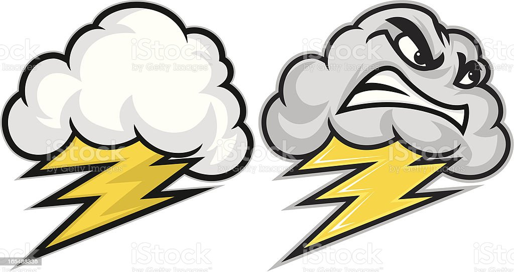 Big thunder Little Lightning vector art illustration