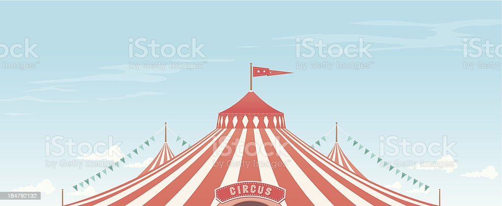 Big Top Background royalty-free stock vector art
