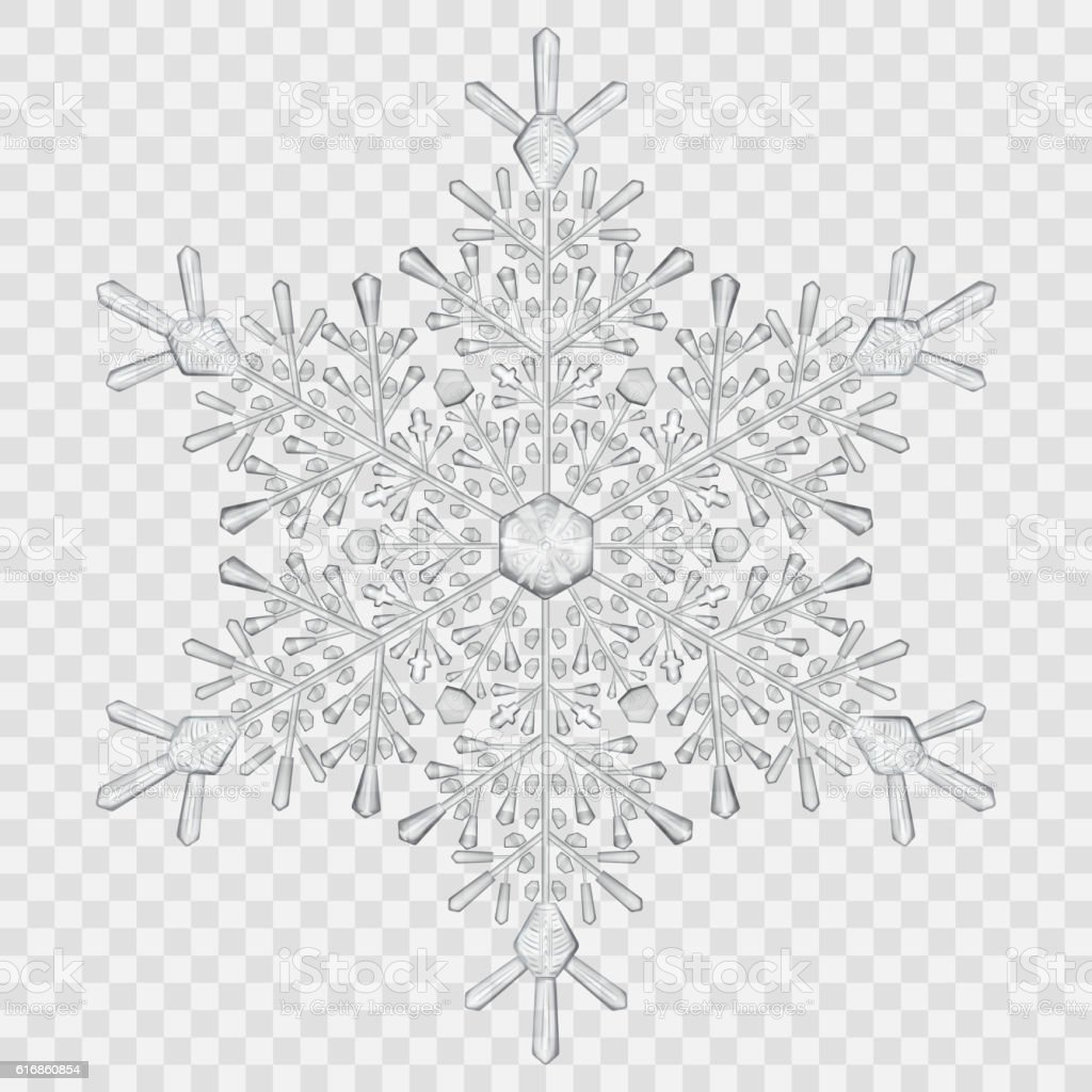 big translucent crystal snowflake royalty free big translucent crystal snowflake stock vector art