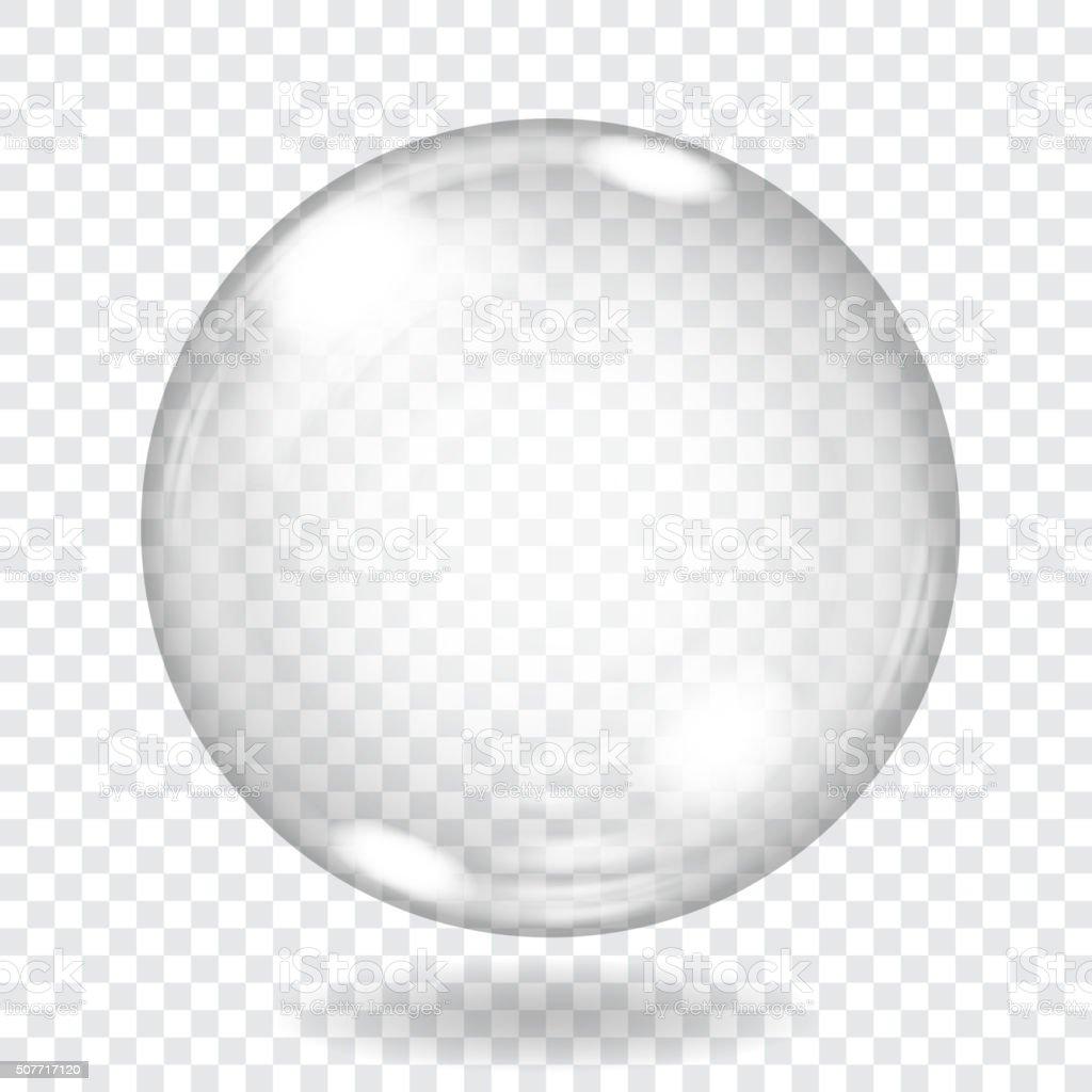 Grandes esfera de vidrio transparente. Transparencia sólo en archivo vectorial - ilustración de arte vectorial