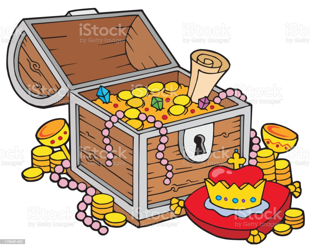 Big treasure chest royalty-free stock vector art
