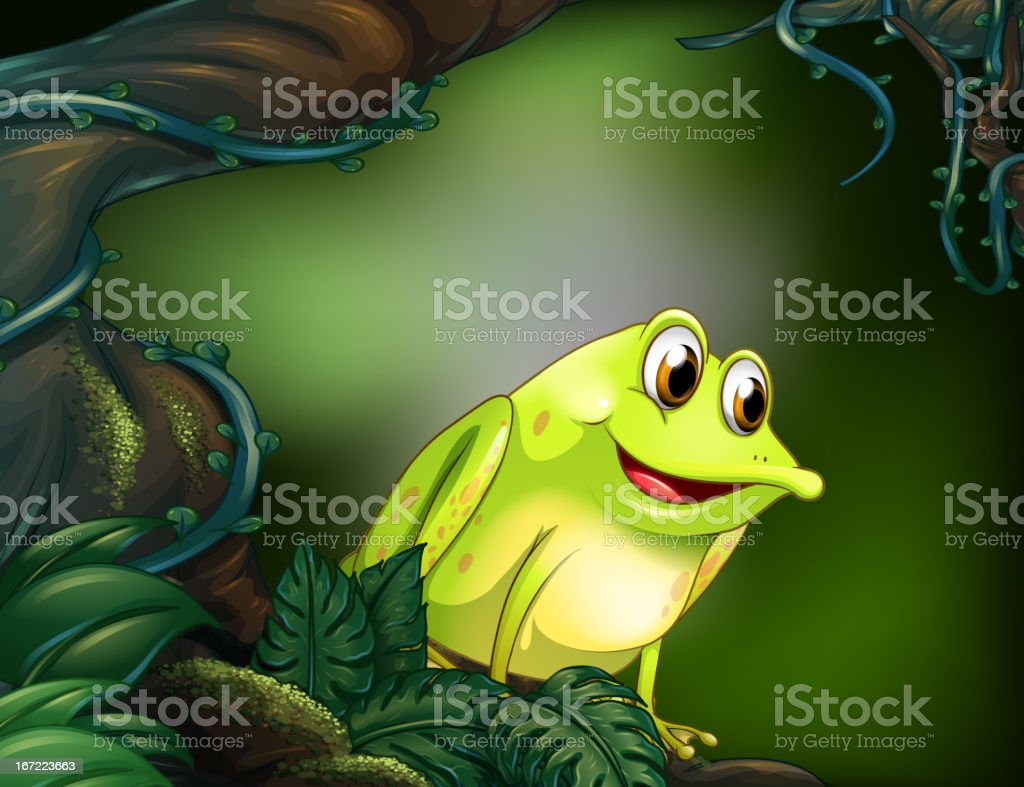 Big tree with a green frog royalty-free big tree with a green frog stock vector art & more images of algae