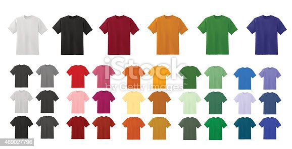istock Big t-shirt templates collection of different colors 469027796