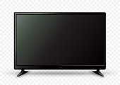 big TV on two holders