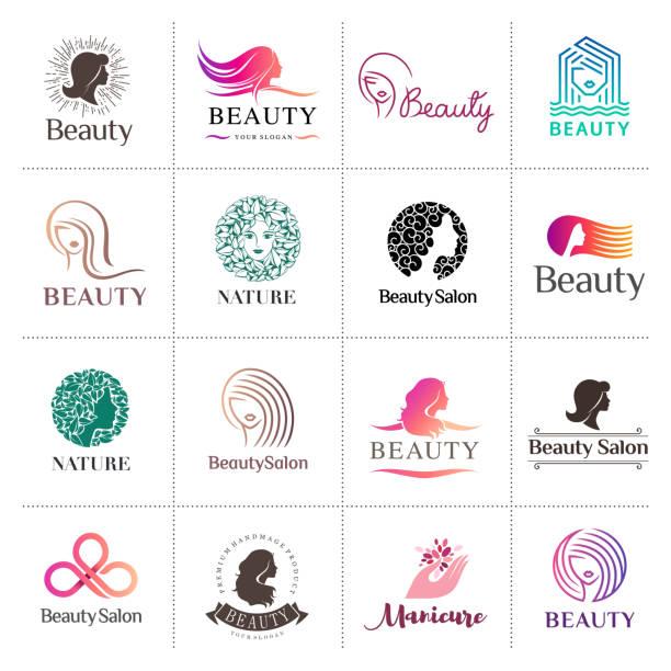 大きなベクトル アイコン ビューティー サロン、ヘアサロン、化粧品セット - 美容室点のイラスト素材/クリップアート素材/マンガ素材/アイコン素材