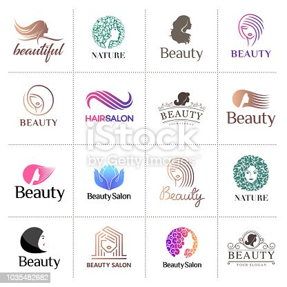 Big vector icon set for beauty salon, hair salon, cosmetic
