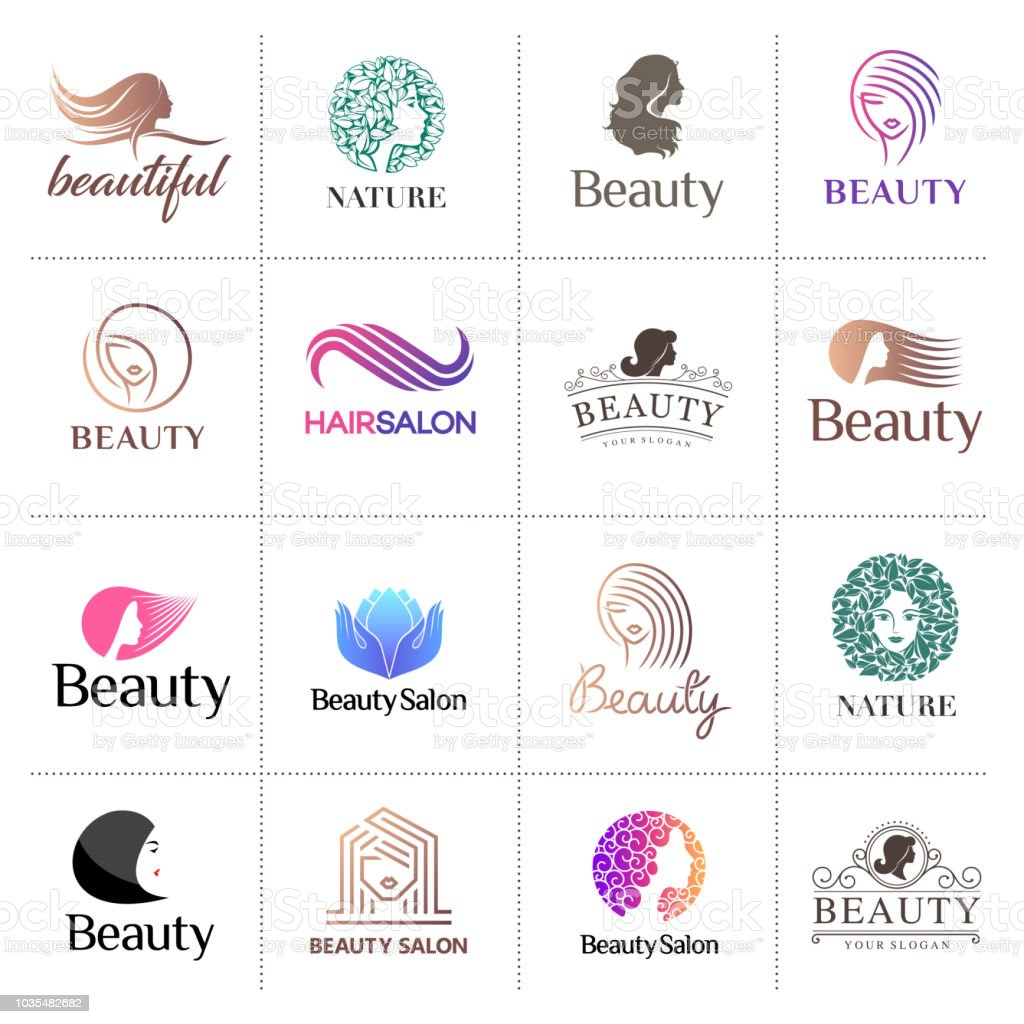 Big vector icon set for beauty salon, hair salon, cosmetic vector art illustration