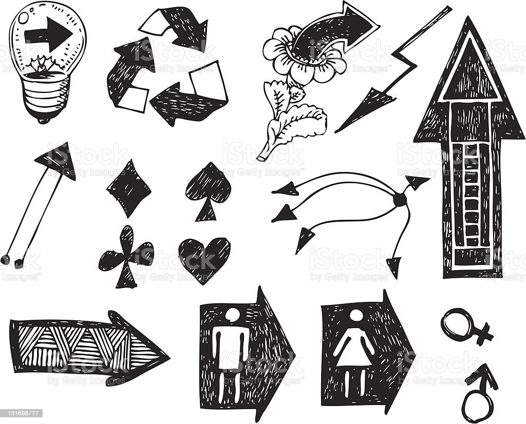 big vector set - arrows and signs royalty-free stock vector art
