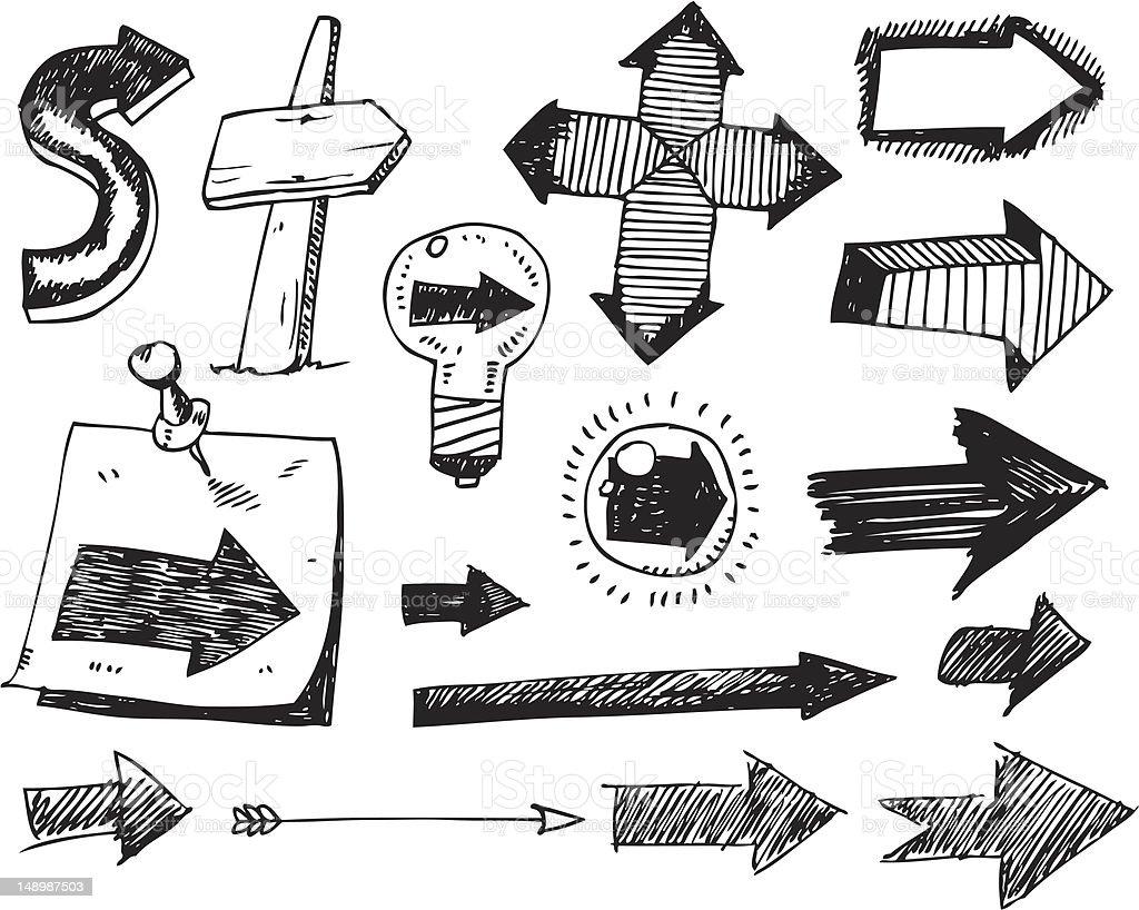big vector set - arrows royalty-free big vector set arrows stock vector art & more images of arrow - bow and arrow