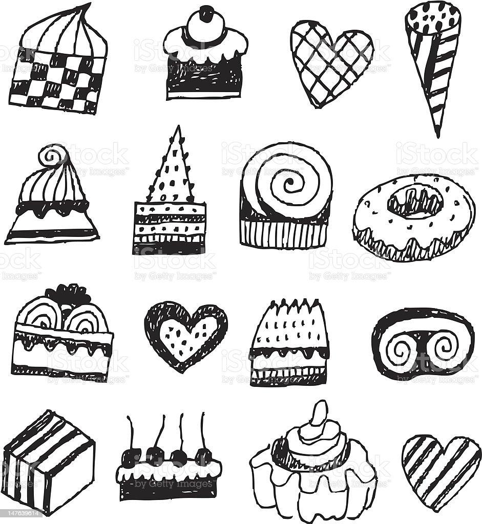 big vector set - cakes royalty-free stock vector art