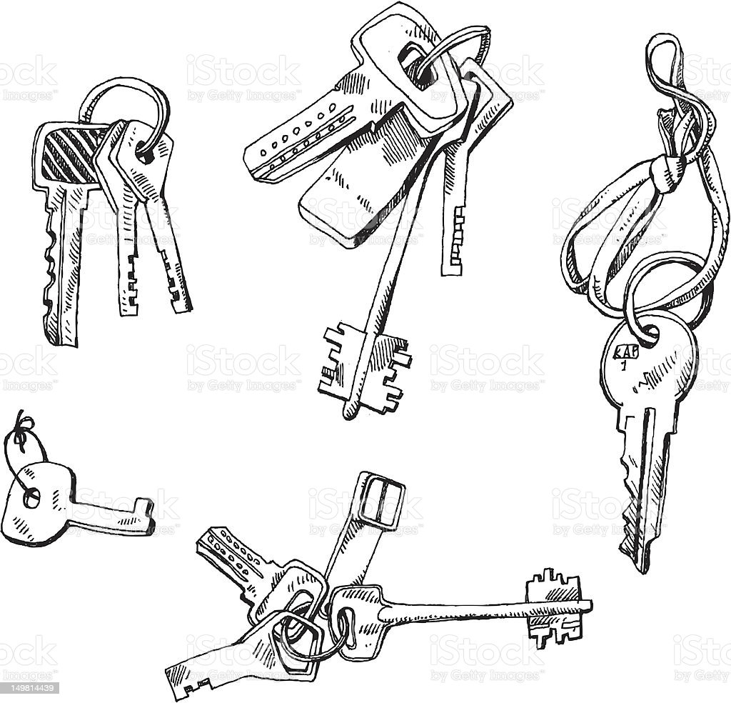 big vector set - keys royalty-free stock vector art