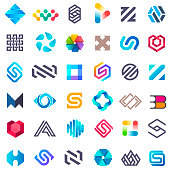 Big vector set of icons design. Unusual icons for business