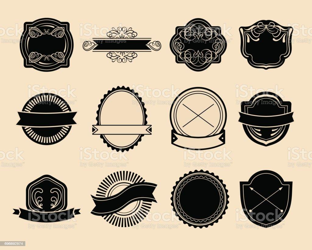 Ilustración de Conjunto De Gran Vector De Etiquetas Vintage ...