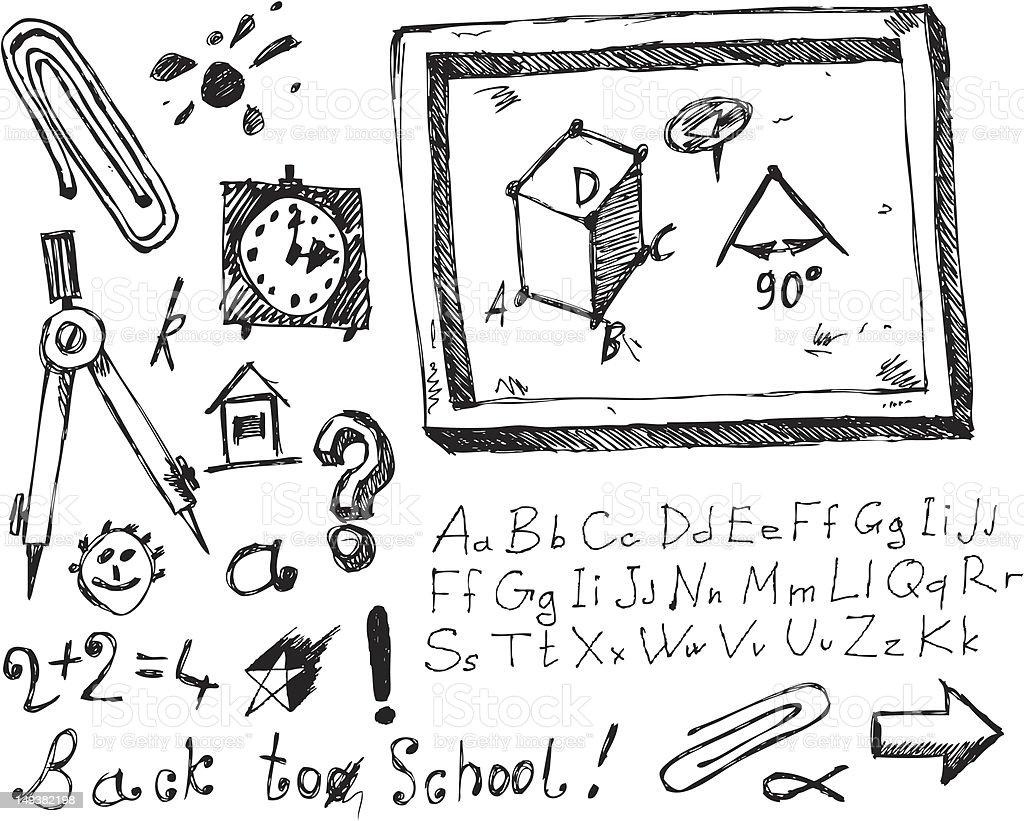 big vector set - school royalty-free stock vector art