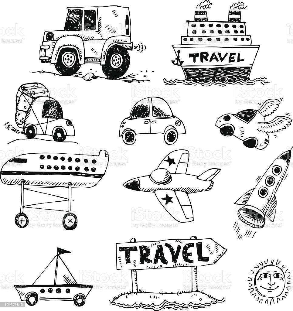 big vector set - transport royalty-free big vector set transport stock vector art & more images of car