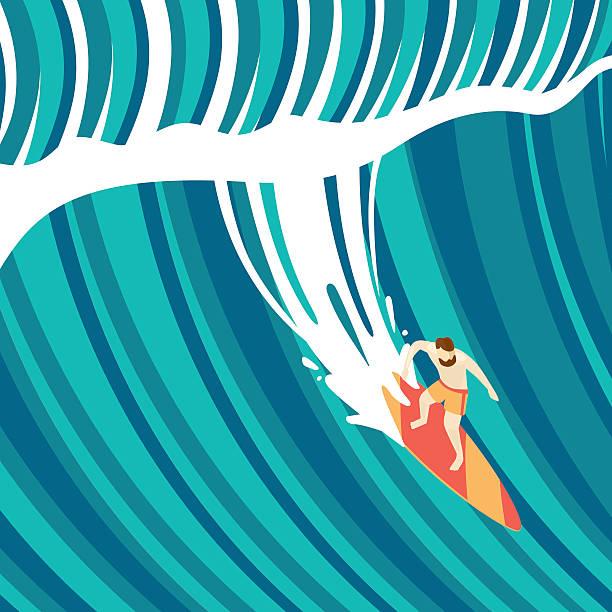 big wave - urlaubsaktivitäten stock-grafiken, -clipart, -cartoons und -symbole