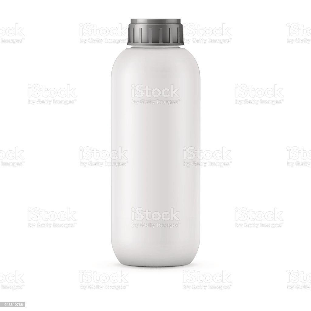 Big White Shampoo Bottle Template Royalty Free Stock Vector