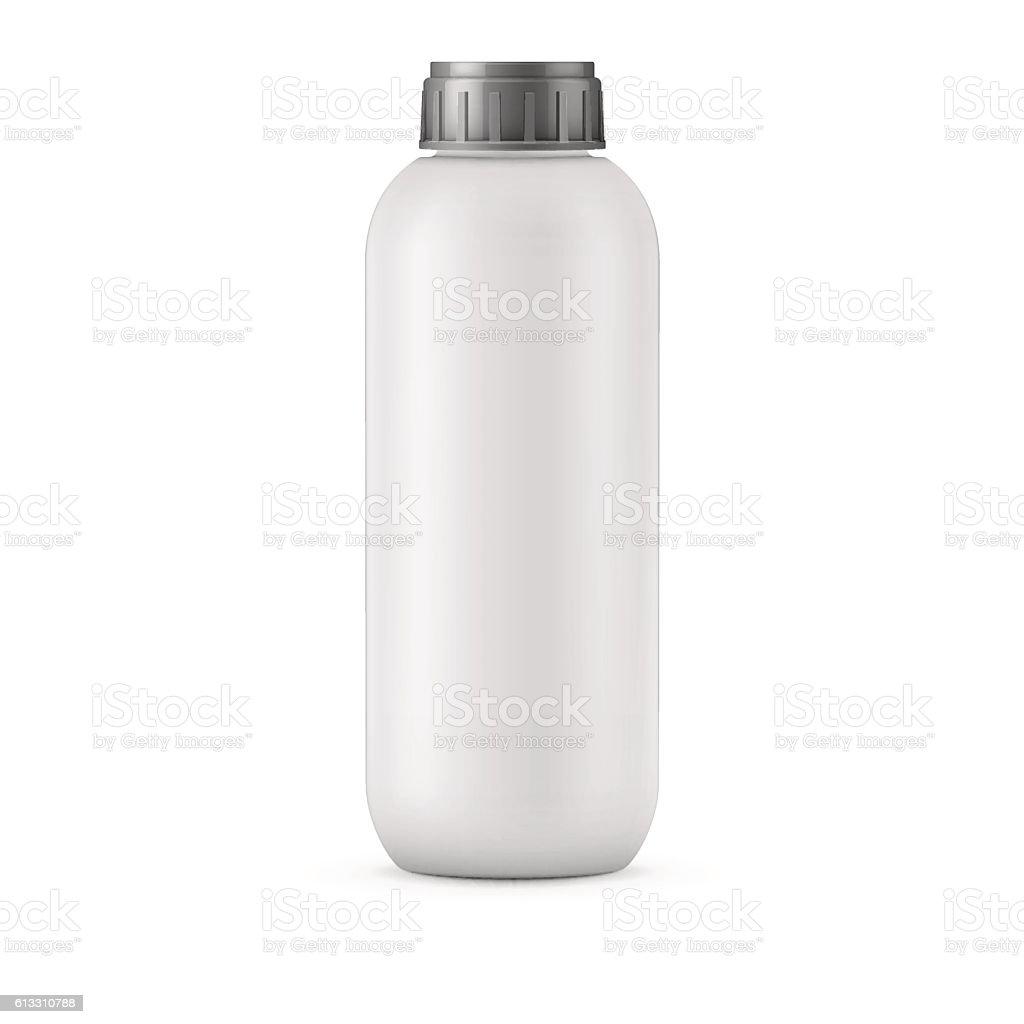 big white shampoo bottle template イラストレーションのベクター