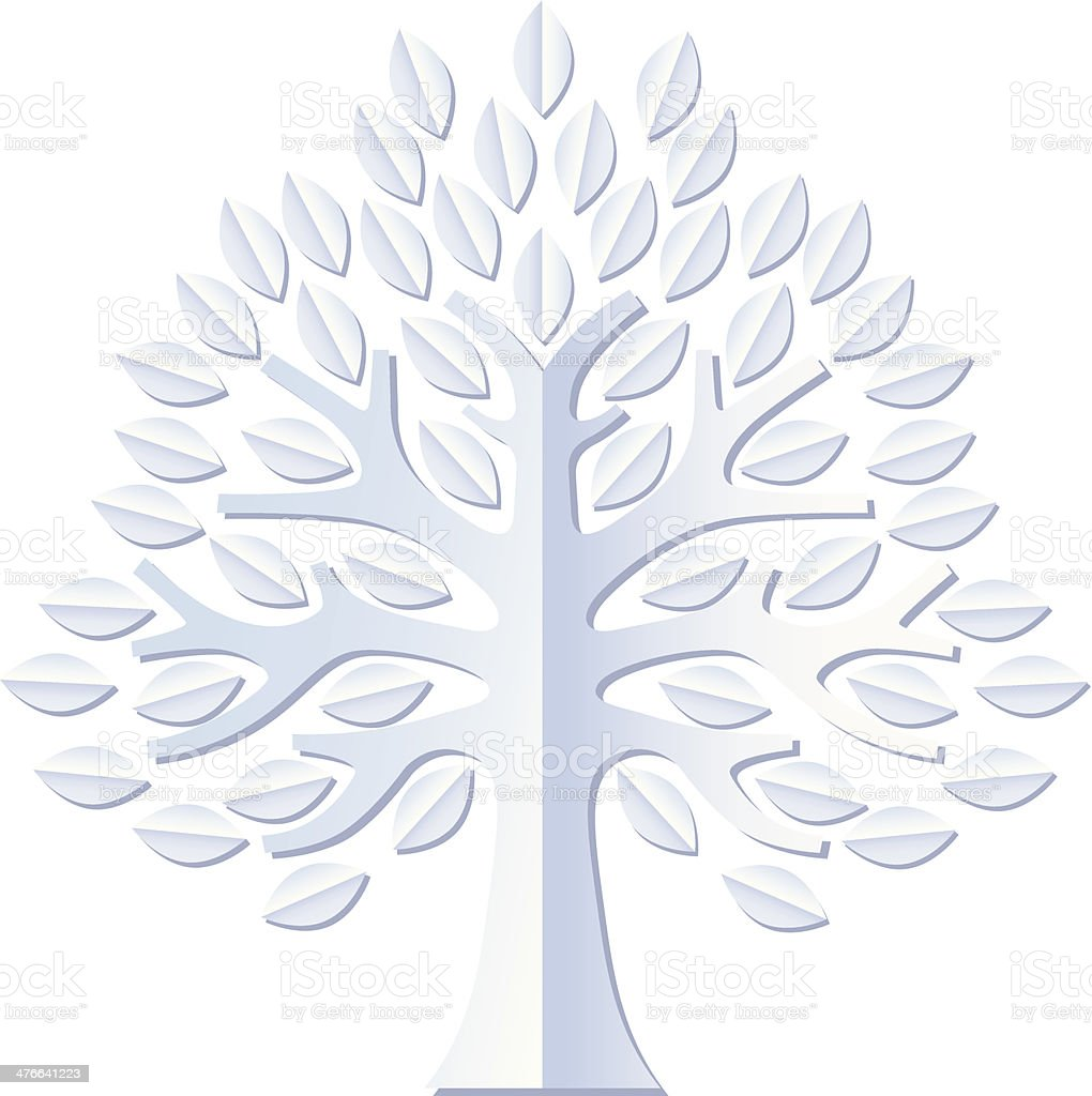 Big white tree royalty-free stock vector art