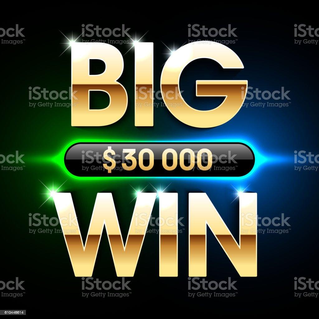 Big Win banner background - ilustración de arte vectorial
