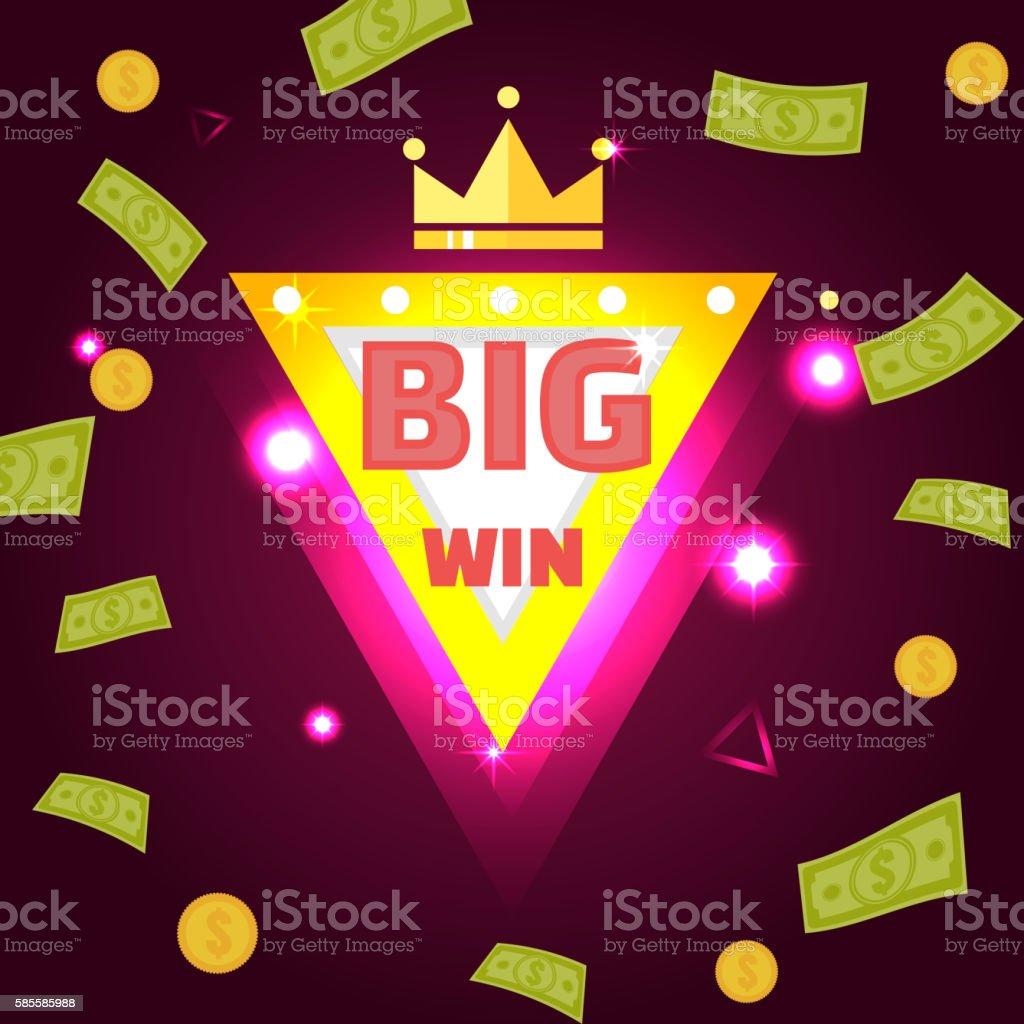 Big win banner vector art illustration