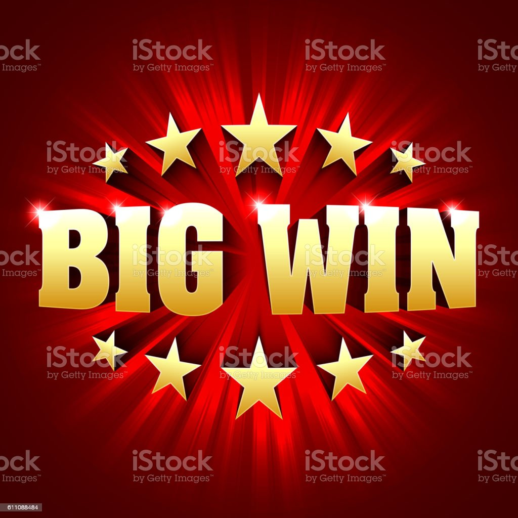 Big Win banner vector art illustration