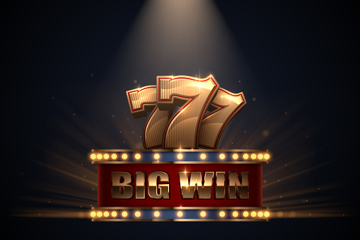 Big win slots banner with glow effect