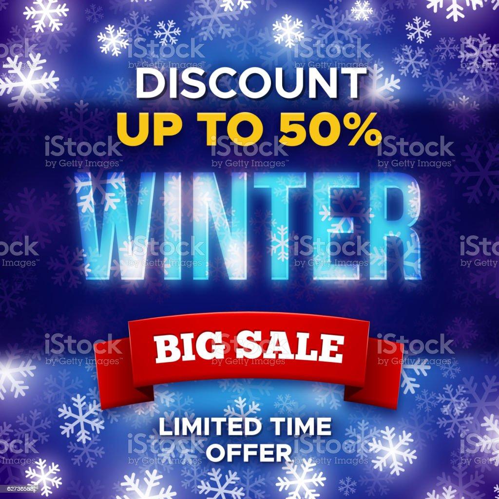 big winter sale promotion banner vector template