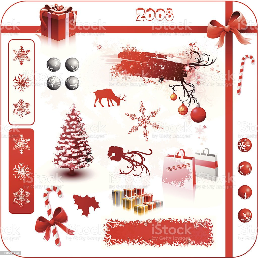 Big X-Mas Collection Red 2008 royalty-free stock vector art
