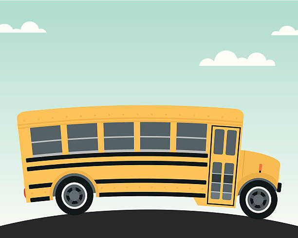 Big Yellow Schoolbus vector art illustration
